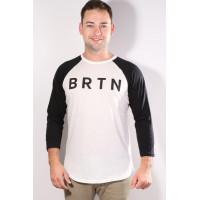 Burton RAGLAN STOUT WHITE pánské tričko s dlouhým rukávem - M