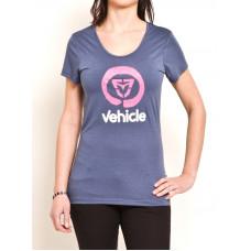 Vehicle BRANDA blue dámské tričko s krátkým rukávem - XS
