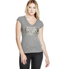 GUESS tričko Ember Wild Logo tee šedé vel. XS