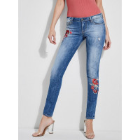 GUESS rifle Starlet Embroidered Jeans modré vel. 27