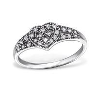 OLIVIE - stříbrný prsten 0216 Velikost prstenů: 6 (EU: 51 - 53)