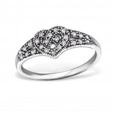 OLIVIE - stříbrný prsten 0216 Velikost prstenů: 8 (EU: 57 - 58)