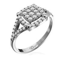 Zlato Zlatý dámský prsten Kostka 6660309 Velikost prstenu: 51