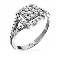 Zlato Zlatý dámský prsten Kostka 6660309 Velikost prstenu: 56