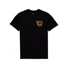 RVCA HER N ROSES black pánské tričko s krátkým rukávem - M