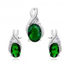 OLIVIE Elegantní sada stříbrných šperků 0749