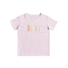 Roxy DAY AND NIGHT MULTIC PINK MIST dětské tričko s krátkým rukávem - 12/L