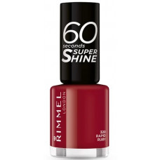 Rimmel London 60 Seconds Super Shine Nail Polish 8ml - 320 Rapid Ruby