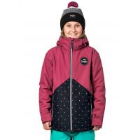 Horsefeathers JUDY sangria/dots dětská zimní bunda - M