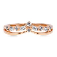 OLIVIE Stříbrný prsten ROSE 4117 Velikost prstenů: 8 (EU: 57 - 58)