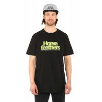 Horsefeathers MERCURY black pánské tričko s krátkým rukávem - S