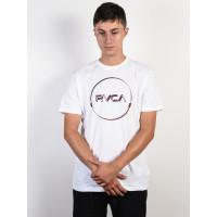 RVCA LOGO PACK white pánské tričko s krátkým rukávem - M