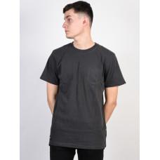 Vans WASHED EVERYDAY BLACK OVERDYE pánské tričko s krátkým rukávem - XL