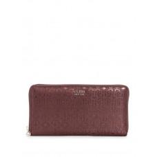 GUESS peněženka Tamra Logo Check Organizer burgundy vel.