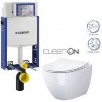 GEBERIT - SET Kombifix KOMBIFIX ECO pro závěsné WC, nádržka UP 320 bez Ovládací desky + WC OPOCZNO URBAN HARMONY CLEANON + SEDÁTKO (110.302.00.5 HA1)