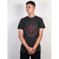 RVCA SIAM CHARCOAL HEATHER pánské tričko s krátkým rukávem - M