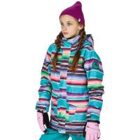 Burton GIRLS ELSTAR PRK MIJITA STRIPE dětská zimní bunda - M