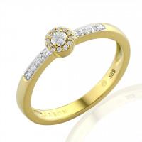 Couple Zlatý dámský prsten Davina 3811261 Velikost prstenu: 57