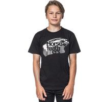 Horsefeathers STROKES black dětské tričko s krátkým rukávem - XXL