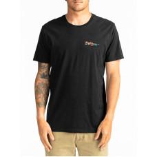 Billabong CRAYON WAVE black pánské tričko s krátkým rukávem - M