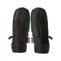 ROJO LEATHER MITT TRUE BLACK dámské prstové rukavice - S