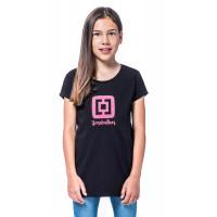 Horsefeathers NICKI black dětské tričko s krátkým rukávem - M