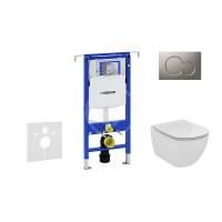 Geberit Sada pro závěsné WC + klozet a sedátko softclose Ideal Standard Tesi - sada s tlačítkem Sigma01, matný chrom 111.355.00.5 NE3