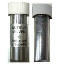 Sugarflair Jedlá prachová perleťová barva Antique silver (Tmavě stříbrná), 2g
