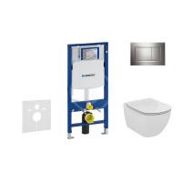 Geberit Sada pro závěsné WC + klozet a sedátko Ideal Standard Tesi - sada s tlačítkem Sigma30, lesklý/matný/lesklý chrom 111.300.00.5 NF6