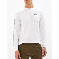 RVCA JJ MIX white pánské tričko s dlouhým rukávem - M