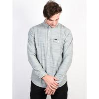 RVCA HONEST SILVER BLEACH pánská košile dlouhý rukáv - XL