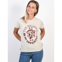 RVCA SIAM OATMEAL dámské tričko s krátkým rukávem - M