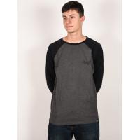 Animal OCANA Dark Charcoal Marl pánské tričko s dlouhým rukávem - M