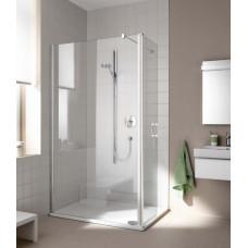 Kermi Boční stěna Cada XS TFR 09020 875-900/2000 bílá ESG čiré Clean Boční stěna, samostatně stojící s pohyblivým křídlem (CCTFR090202PK)