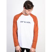 Animal ACTION Fireside Orange pánské tričko s dlouhým rukávem - XL