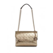 GUESS kabelka Peony Shine Convertible Crossbody champagne vel.