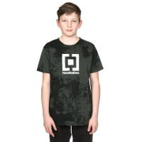 Horsefeathers BASE gray tie dye dětské tričko s krátkým rukávem - M