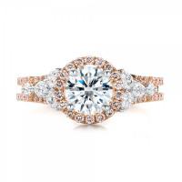 OLIVIE Růžově zlacený stříbrný prsten 3365 Velikost prstenů: 6 (EU: 51 - 53)