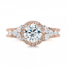 OLIVIE Růžově zlacený stříbrný prsten 3365 Velikost prstenů: 9 (EU: 59 - 61)