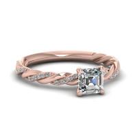 OLIVIE Stříbrný prsten AMORE ROSE 4230 Velikost prstenů: 9 (EU: 59 - 61)