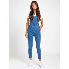 RVCA PAIGER DENIM WORN BLUE značkové dámské džíny - 26