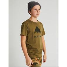 Burton CLASSIC MTN HIGH MARTINI OLIVE dětské tričko s krátkým rukávem - S