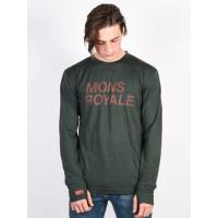 MONS ROYALE ORIGINAL ITALLICA FOREST GREEN pánské thermo prádlo - L