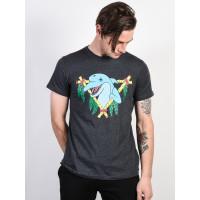 RVCA DOLPHIN CLUB CHARCOAL pánské tričko s krátkým rukávem - M