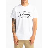 Billabong TRADEMARK white pánské tričko s krátkým rukávem - L