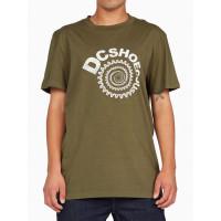 Dc SPIRAL IVY GREEN pánské tričko s krátkým rukávem - XL