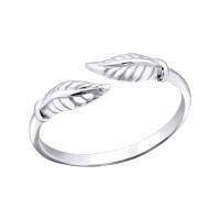 OLIIE Stříbrný prsten na nohu LÍSTEK 1795