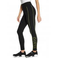 GUESS legíny Teddi Mesh Logo Leggings lime vel. S