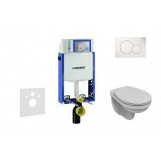 Geberit Sada pro závěsné WC + klozet a sedátko Ideal Standard Quarzo - sada s tlačítkem Sigma01, bílé 110.302.00.5 NR1