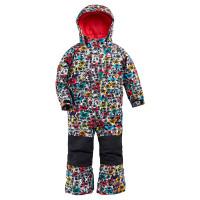Burton ONE PIECE MULTICOLOR BUTTERFLY dětské zimní bundy na snowboard - 4T